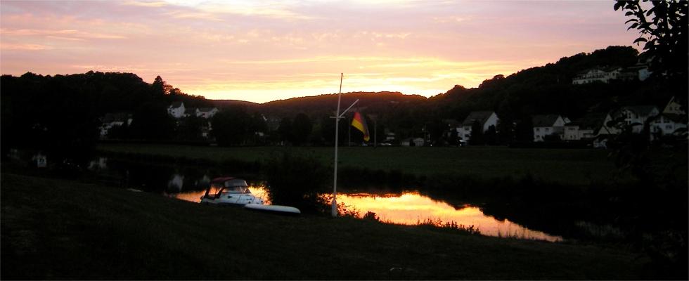 Abendstimmung auf unserem Campingplatz