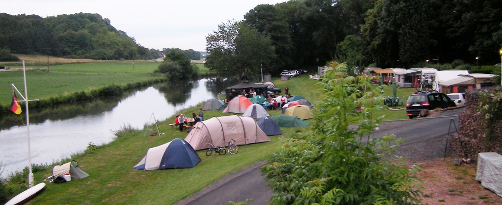 Langsam füllt sich der Campingplatz